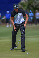 Henrik Stenson (SWE) sinks his par putt on 17 during Round 2 of the Zurich Classic of New Orl, TPC Louisiana, Avondale, Louisiana, USA. 4/27/2018.<br /> Picture: Golffile | Ken Murray<br /> <br /> <br /> All photo usage must carry mandatory copyright credit (&copy; Golffile | Ken Murray)