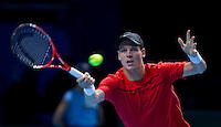 Tomas Berdych (CZE) (7) against Janko Tipsarevic (SRB) (9) in the round robin stage of the Barclays ATP World Tour Finals. ..@AMN IMAGES, Frey, Advantage Media Network, Level 1, Barry House, 20-22 Worple Road, London, SW19 4DH.Tel - +44 208 947 0100.email - mfrey@advantagemedianet.com.www.amnimages.photoshelter.com.