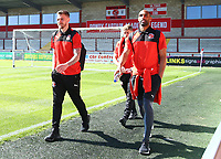 Fleetwood Town&rsquo;s Nathan Pond, Fleetwood Town&rsquo;s Paddy Madden arriving prior to the match<br /> <br /> Photographer Leila Coker/CameraSport<br /> <br /> The EFL Sky Bet League One - Fleetwood Town v Walsall - Saturday 5th May 2018 - Highbury Stadium - Fleetwood<br /> <br /> World Copyright &copy; 2018 CameraSport. All rights reserved. 43 Linden Ave. Countesthorpe. Leicester. England. LE8 5PG - Tel: +44 (0) 116 277 4147 - admin@camerasport.com - www.camerasport.com