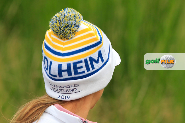 Azahara Munoz of Team Europe on the 8th during Day 2 Foursomes at the Solheim Cup 2019, Gleneagles Golf CLub, Auchterarder, Perthshire, Scotland. 14/09/2019.<br /> Picture Thos Caffrey / Golffile.ie<br /> <br /> All photo usage must carry mandatory copyright credit (© Golffile | Thos Caffrey)