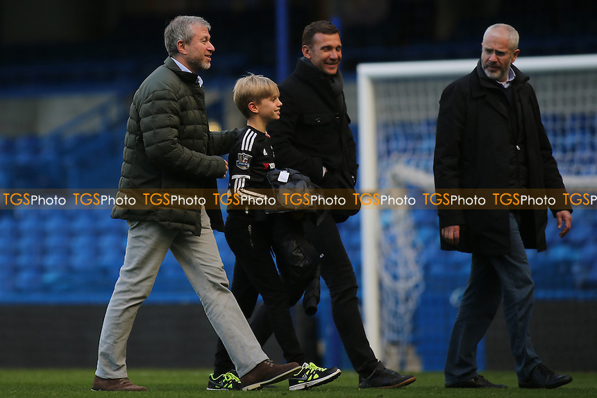 Chelsea Owner, Roman Abramovich looks in a cheerful mood as he walks across the pitch after the match during Chelsea vs Arsenal, Premier League Football at Stamford Bridge on 4th February 2017