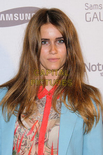 Jade Williams aka Sunday Girl.Samsung celebrates the launch of the Galaxy Note 10.1 held at One Mayfair..London, England..August 15th, 2012.headshot portrait blue blazer red beige print shirt.CAP/CJ.©Chris Joseph/Capital Pictures.
