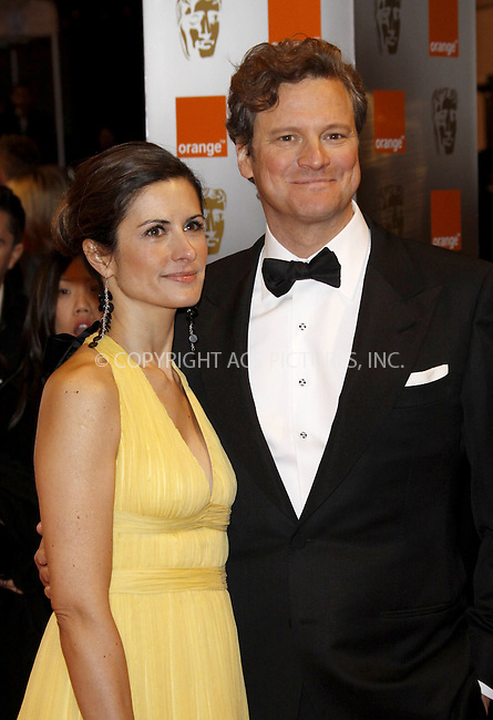 WWW.ACEPIXS.COM . . . . .  ..... . . . . US SALES ONLY . . . . .....February 21 2010, London....Livia Giuggioli and Colin Firth at the Orange British Academy Film Awards (BAFTA's) on February 21 2010 in London......Please byline: FAMOUS-ACE PICTURES... . . . .  ....Ace Pictures, Inc:  ..tel: (212) 243 8787 or (646) 769 0430..e-mail: info@acepixs.com..web: http://www.acepixs.com