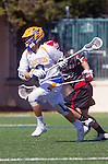 Santa Barbara, CA 04/16/16 - Reed Zabel (UCSB #9) in action during the final regular MCLA SLC season game between Chapman and UC Santa Barbara.  Chapman defeated UCSB 15-8. in action during the final regular MCLA SLC season game between Chapman and UC Santa Barbara.  Chapman defeated UCSB 15-8.
