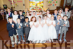 Children from Abbeydorney N S and Killahan NS who made their First Holy Communion on Saturday morning in St Bernard s Church, Abbeydorney