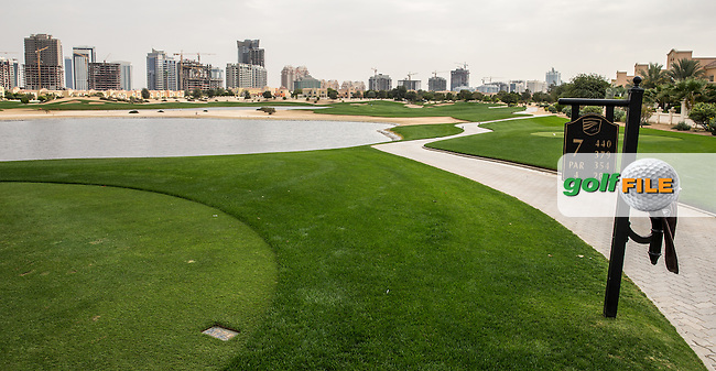 7th tee at The Els Club , Dubai, United Arab Emirates.  28/01/2016. Picture: Golffile | David Lloyd<br /> <br /> All photos usage must carry mandatory copyright credit (&copy; Golffile | David Lloyd)
