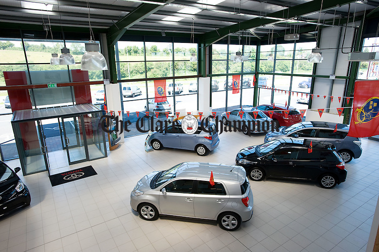 The showroom area at Cummins Car Centre, Ballymaley, Ennis. Photograph by John Kelly.