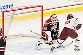 Brittany Bugalski (NU - 39), Kenzie Kent (BC - 12) - The Boston College Eagles defeated the Northeastern University Huskies 5-1 (EN) in their NCAA Quarterfinal on Saturday, March 12, 2016, at Kelley Rink in Conte Forum in Boston, Massachusetts.