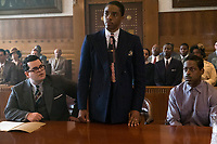Marshall (2017) <br /> Josh Gad, Chadwick Boseman and Sterling K. Brown<br /> *Filmstill - Editorial Use Only*<br /> CAP/KFS<br /> Image supplied by Capital Pictures
