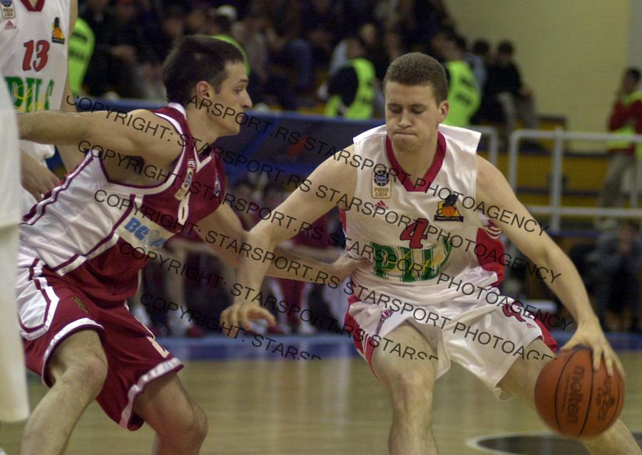 SPORT KOSARKA REFLEKS FMP ZELEZNIK CRVENA ZVEZDA Bojan Popovic 25.04.2004. foto: Pedja Milosavljevic<br />