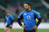 Ben Te'o of England looks on during the pre-match warm-up. Quilter International match between England and Australia on November 24, 2018 at Twickenham Stadium in London, England. Photo by: Patrick Khachfe / Onside Images