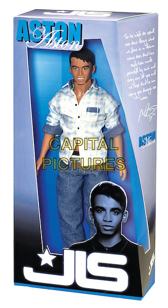 JLS - ASTON MERRYGOLD.The four members of the boy band JLS launch a range of dolls made in their own image and with all their characteristics, London, England..October 27th, 2010.*Editorial Use Only*.band group gv general view atmosphere toy.CAP/PLF.Supplied by Capital Pictures.