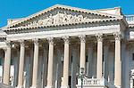 United States Senate, Portico and Pediment, US Capitol Building, Capitol Hill, National Mall, Washington DC