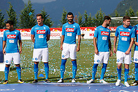 SSC Napoli' players   <br />  wears a new home jersey during a preseason training camp in Dimaro Italy 11 jul 2017 Photo: Ciro De Luca SilverHub  +39 02 43998577 sales@silverhubmedia.it