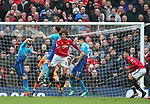 Marouane Fellaini of Manchester United heads the ball to score the second goal during the premier league match at the Old Trafford Stadium, Manchester. Picture date 29th April 2018. Picture credit should read: Simon Bellis/Sportimage