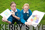 FLAGS: Michael O'Riordan and Aine Daly from Mercy Mounthawk show their winning logos for the Yellow Flag Programme last week.   Copyright Kerry's Eye 2008