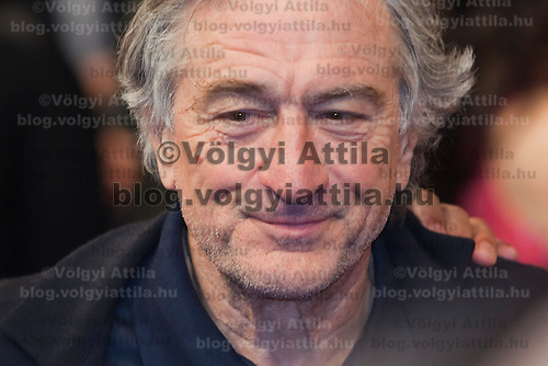 Actor Robert De Niro poses when intrnational and local celebrities arrive on the red carpet during the official opening of the Nobu restaurant in. Budapest, Hungary, Sunday, 10. October 2010. ATTILA VOLGYI
