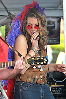 Vanessa Stevens conjuring the spirit Janis Joplin. The Happening perform the Elks Club Octoberfest at the Apple Festival. Southington CT 4 October 2009.
