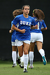 30 August 2015: Duke's Taylor Racioppi. The Duke University Blue Devils hosted the William & Mary University Tribe at Koskinen Stadium in Durham, NC in a 2015 NCAA Division I Women's Soccer game. Duke won the game 2-0.