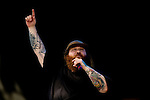 Rapper Action Bronson performs on stage at Weekend 1 of the Coachella Valley Music and Arts Festival in Indio, California April 10, 2015. (Photo by Kendrick Brinson)