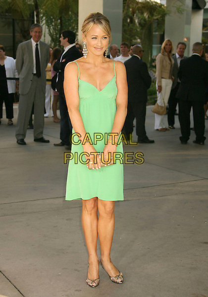 "CHRISTINE TAYLOR.""License to Wed"" World Premiere held at the Cinerama Dome, Hollywood, California, USA,.25 June, 2007..full length green dress Christian Louboutin shoes.CAP/ADM/RE.©Russ Elliot/AdMedia/Capital Pictures."