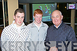 James Lynch Killorglin, Craig Hickey Killarney and Michael McPhilips Killorglin looking for winners at the Cheltenham preview night in Killarney racecourse on Thursday night