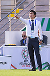 Japan Head Coach Hajime Moriyasu reacts during the AFC Asian Cup UAE 2019 Group F match between Japan (JPN) and Turkmenistan (TKM) at Al Nahyan Stadium on 09 January 2019 in Abu Dhabi, United Arab Emirates. Photo by Marcio Rodrigo Machado / Power Sport Images