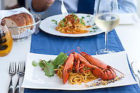 Restaurant Scoglitti - Fettucine with Lobster and Fettucine Ricci (sea urchins) Valletta, Malta