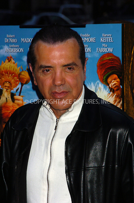 WWW.ACEPIXS.COM . . . . .  ....December 7, 2007, New York City....Chazz Palminteri attends the 'Arthur and the Invisibles' Premiere.....Please byline: AJ Sokalner - ACEPIXS.COM.... *** ***..Ace Pictures, Inc:  ..(212) 243-8787 or (646) 769 0430..e-mail: picturedesk@acepixs.com..web: http://www.acepixs.com