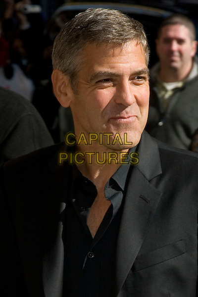 "GEORGE CLOONEY.Appearance on the ""Late Show with Dave Letterman"" at the Ed Sullivan Theater, New York, NY, USA..April 2nd, 2008.headshot portrait funny face .CAP/LNC/TOM.©TOM/LNC/Capital Pictures."