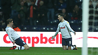 Preston North End's Alan Browne celebrates scoring his side's equalising goal to make the score 1-1 with team-mate Ryan Ledson<br /> <br /> Photographer Stephen White/CameraSport<br /> <br /> The EFL Sky Bet Championship - Preston North End v Hull City - Wednesday 26th December 2018 - Deepdale Stadium - Preston<br /> <br /> World Copyright &copy; 2018 CameraSport. All rights reserved. 43 Linden Ave. Countesthorpe. Leicester. England. LE8 5PG - Tel: +44 (0) 116 277 4147 - admin@camerasport.com - www.camerasport.com