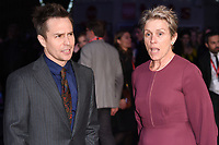 Sam Rockwell &amp; Frances McDormand at the London Film Festival 2017 closing gala of &quot;Three Billboards Outside Ebbing, Missouri&quot; at Odeon Leicester Square, London, UK. <br /> 15 October  2017<br /> Picture: Steve Vas/Featureflash/SilverHub 0208 004 5359 sales@silverhubmedia.com
