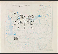 Omar Bradley's secret D-Day maps.