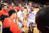 Virginia guard Justin Anderson (1) during the game Jan. 22, 2015, in Charlottesville, Va. Virginia defeated Georgia Tech 57-28.