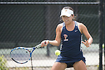 April 25, 2014; San Diego, CA, USA; Pepperdine Waves player Alejandra Granillo during the WCC Tennis Championships at Barnes Tennis Center.