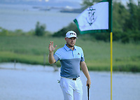 Tyrrell Hatton (ENG) during the first round of  The Northern Trust, Liberty National Golf Club, Jersey City, New Jersey, USA. 08/08/2019.<br /> Picture Michael Cohen / Golffile.ie<br /> <br /> All photo usage must carry mandatory copyright credit (© Golffile | Michael Cohen)