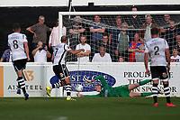 Luke Summerfield of Wrexham scores the second goal for his team from the penalty spot during Dagenham & Redbridge vs Wrexham, Vanarama National League Football at the Chigwell Construction Stadium on 13th October 2018
