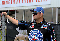 May 11, 2013; Commerce, GA, USA: NHRA funny car driver Robert Hight during the Southern Nationals at Atlanta Dragway. Mandatory Credit: Mark J. Rebilas-