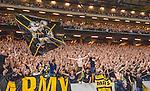 Solna 2015-08-10 Fotboll Allsvenskan AIK - Djurg&aring;rdens IF :  <br /> AIK:s supportrar sjunger efter matchen mellan AIK och Djurg&aring;rdens IF <br /> (Foto: Kenta J&ouml;nsson) Nyckelord:  AIK Gnaget Friends Arena Allsvenskan Djurg&aring;rden DIF supporter fans publik supporters jubel gl&auml;dje lycka glad happy
