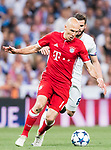 Arjen Robben of FC Bayern Munich in action during their 2016-17 UEFA Champions League Quarter-finals second leg match between Real Madrid and FC Bayern Munich at the Estadio Santiago Bernabeu on 18 April 2017 in Madrid, Spain. Photo by Diego Gonzalez Souto / Power Sport Images