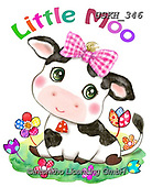 Kayomi, CUTE ANIMALS, LUSTIGE TIERE, ANIMALITOS DIVERTIDOS, paintings+++++,USKH346,#ac#, EVERYDAY ,sticker,stickers ,cow,cows