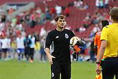 01.08.2015. Cologne, Germany. Pre Season Tournament. Colonia Cup. Valencia CF versus FC Porto.  In sudden death, Porto score and Casillas brilliantly saves Cancelos strike. Porto win and Casillas thanks the referee.