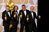 John Nelson, Gerd Nefzer, Paul Lambert &amp; Richard R. Hoover at the 90th Academy Awards Awards at the Dolby Theartre, Hollywood, USA 04 March 2018<br /> Picture: Paul Smith/Featureflash/SilverHub 0208 004 5359 sales@silverhubmedia.com