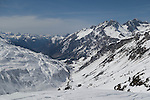 Flexenspitze (right) from St Anton Ski Area, Austria,