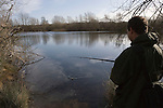 Fishing on  Thrupp lake, part of the Radley lakes and  the one threatened to be filled up with fly ash from Didcot power station run by RWE N power