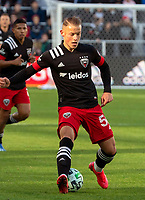 WASHINGTON, DC - MARCH 07: Eric Sorga #50 controls the ball during a game between Inter Miami CF and D.C. United at Audi Field on March 07, 2020 in Washington, DC.