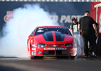 Feb 1, 2018; Chandler, AZ, USA; NHRA pro stock driver Erica Enders-Stevens during Nitro Spring Training pre season testing at Wild Horse Pass Motorsports Park. Mandatory Credit: Mark J. Rebilas-USA TODAY Sports