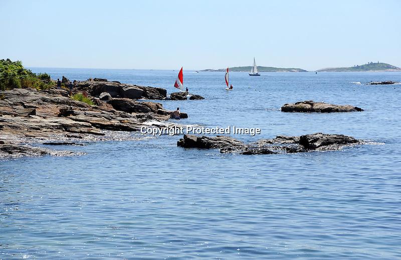 Sailing off Ocean Point, Maine, USA