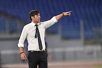 Paulo Fonseca, Roma coach,<br /> during the Serie A football match between AS Roma and UC Sampdoria at Olimpico stadium in Rome ( Italy ), June 24th, 2020. Play resumes behind closed doors following the outbreak of the coronavirus disease. <br /> Photo Andrea Staccioli / Insidefoto