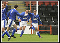 17/8/02               Copyright Pic : James Stewart                     .File Name : stewart-airdrie v stranraer 13.STRANRAER'S ALEX LURINSKI CELEBRATES AFTER HE OPENS THE SCORING....James Stewart Photo Agency, 19 Carronlea Drive, Falkirk. FK2 8DN      Vat Reg No. 607 6932 25.Office : +44 (0)1324 570906     .Mobile : + 44 (0)7721 416997.Fax     :  +44 (0)1324 570906.E-mail : jim@jspa.co.uk.If you require further information then contact Jim Stewart on any of the numbers above.........